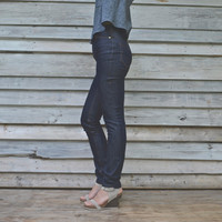 Blue High Waisted Classic // Made to Measure // Custom Jeans