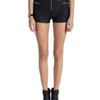 Leather High Waist Shorts