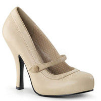 Retro Cream Mary Jane Heels - pleaser usa - cutiepie02