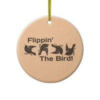 Flippin' The Bird Christmas Tree Ornament