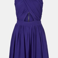 Topshop Ruched Wrap Bodice Skater Dress | Nordstrom
