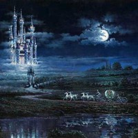 Disney Dreams Art - Rodel Gonzalez Moonlit Castle painting