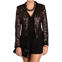 Gold/Black Sequin Jacket