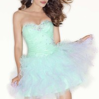 Strapless Tulle Mini Dress by Sticks and Stones by Mori Lee