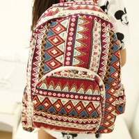 Gothic Print Backpack