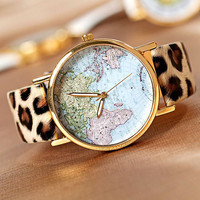 NT0052 World Map Fashion Watches