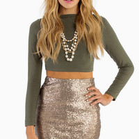 Be Seen Sequin Pencil Skirt $37