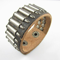 punk style bracelet with metal rivet, men's jewelry bangle cuff bracelet, women's leather bracelet S102-BR