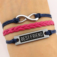 infinity bracelet, women rope bracelet personalized cute bracelet best friend Gift A014