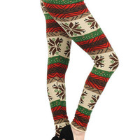 Christmas Sweater Fleece Leggings | Something Madison