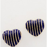 The Blue Heart Earrings - 29 N Under