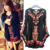 Cute Blouse with Flora Print