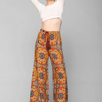 Staring At Stars Medallion Wide-Leg Pant- Orange M