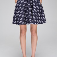 Skater skirt with eye print - FrontRowShop