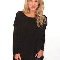Riffraff | piko long sleeve tunic - black