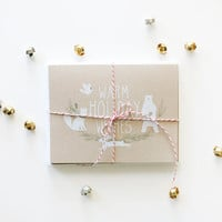 Holiday Wishes Cards - Set of 6