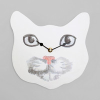 Plum & Bow Cat Face Wall Clock - Urban Outfitters