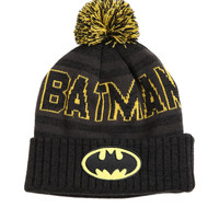 DC Comics Batman Fold-Over Pom Beanie