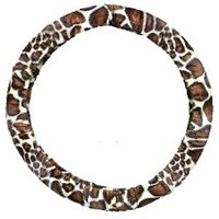 Steering Wheel Cover Store - Giraffe Print Soft Faux Fur Car Truck Steering Wheel Cover