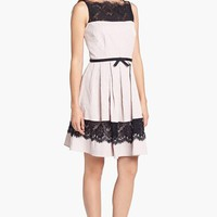 Taylor Dresses Jacquard Fit & Flare Dress | Nordstrom