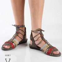 Very Volatile Lollipop Gray Multi Leather and Suede Huarache - $64.00 : Fashion Sale Shoes at LuLus.com