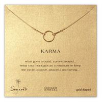 Dogeared 'Reminder - Karma' Boxed Pendant Necklace | Nordstrom
