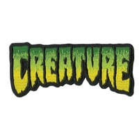 Creature: Logo Fade Patch 4 in 1.75 in Green/Black