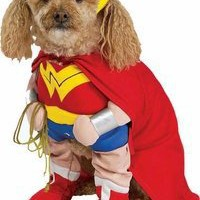Pet Wonder Woman Dog Costume For Large Dogs