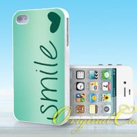 Smile, Heart, Love, Cute, Unique - Print on hardplastic for iPhone 4/4s and 5 case, Samsung Galaxy S3/S4 case.