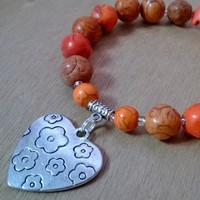 Exquisite Charm Bracelet - Mio Amore (Orange) from Pelhuaz by Red