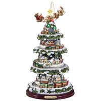 The Thomas Kinkade Animated Christmas Tree - Hammacher Schlemmer