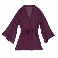Plum Short Night Robe