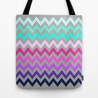 Chevron #10 Tote Bag by Ornaart