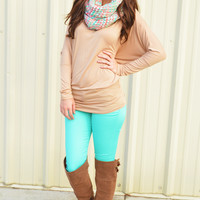Casually Comfy Piko Tunic: Tan