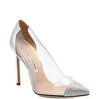 Manolo Blahnik  - Pachacry Jeweled Cap-Toe Pumps