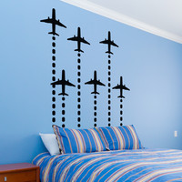 Rocket Planes Wall Decal