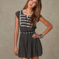 Short Sleeve Dotted Rayon Dress $98.00