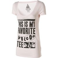 Volcom Fav Slim Scoop V T-Shirt - Short-Sleeve - Women's