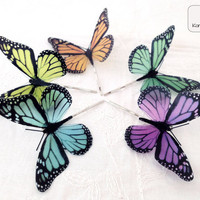 Butterfly hair clip Choose your favorite color by KandyDisenos