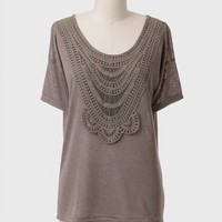 Strathfield Crochet Detail Top