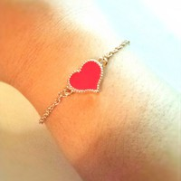 The Lovely Red Heart Bracelet