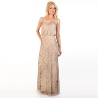 Adrianna Papell Beaded Blouson Gown at Von Maur