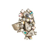Sorrelli White Bridal Abstract Crystal Cluster Ring at Von Maur