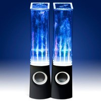 Vktech Led Dancing Water Speakers Light Show Fountain Speakers for Cellphone Notebook Mp4 Mp3