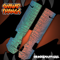 Custom Nike Elite Socks - Swamp Thangs | Rock 'Em Apparel