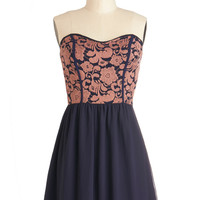 Glowing Places Dress in Navy | Mod Retro Vintage Dresses | ModCloth.com