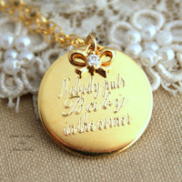 "Dirty Dancing gift for woman, - 14k Gold Filled Necklace with ""baby"" movie quote."