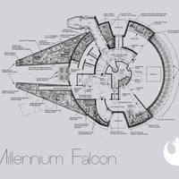 Star Wars Poster - Millennium Falcon, Rebel Symbol