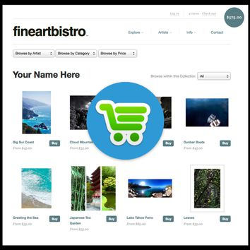 Fineartbistro Account - Up to