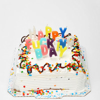 Happy F'n Birthday Candle - Set Of 16 - Urban Outfitters